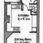 Ground floor plan of 2 Coastguard Cottages