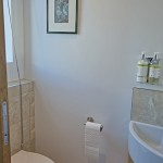 Downstairs toilet for 2 coastguard cottages, keyhaven holiday home