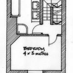 First floor plan of 2, Coastguard Cottages