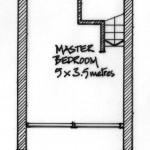 Second floor plan of 2, Coastguard Cottages