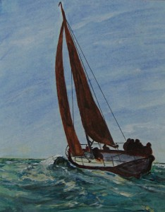 Yacht painting in Keyhaven