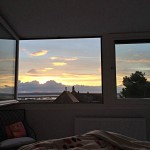 Sunrise from master bedroom, 2 Coastguard Cottages, holiday cottage in Keyhaven, Hampshire