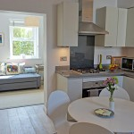 Kitchen diner for 2 coastguard cottages, keyhaven holiday home